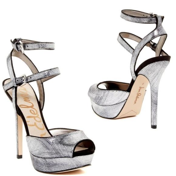 63d21426d95 Sam Edelman Silver Nadine Metallic Platform Heels.  M 5b9b11e79fe486970a0dddfc